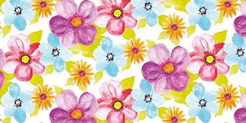 �ufer 40 cm x 24 m | Tischdecken-Rolle stoffähnlich | praktische Einmal-Tischdecke für Hochzeit oder Partys | Frühling | Sommer | Luana ()