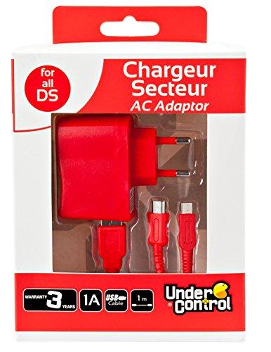 Preisvergleich Produktbild Under Control 6-in-1-Ladegerät / Netzteil für DSi XL / DSi / DS Lite / 3DS XL / 3DS / 2DS,  Rot