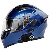 GNB Modulare Motorradhelme Bluetooth + FM DOT-Zertifizierung Flip Up Touring-Helme Integrierter...