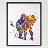 dignovel Studios Baby Elefant Print Kinder Aquarell-Print Pinky Wall Art