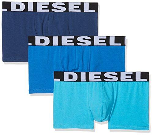Diesel Herren Boxershorts 00sab2, 3er Pack, Mehrfarbig (Black/grey/white), XL