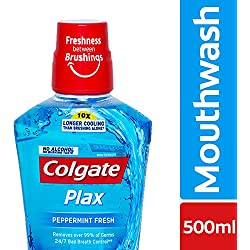 Colgate Plax Peppermint Fresh Mouthwash - 500 ml