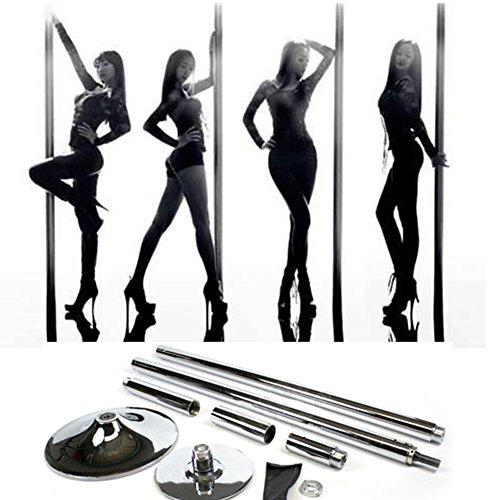 Mvpower Barre de Pole Dancing Chromée Diamètre 45mm X Pole XPert Sexy Pole Dance Fitness Réglable en Hauteur(2235~2745mm)