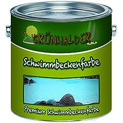 Grünwalder - Pintura para piscinas de color premium, color de piscina en azul, blanco, verde, verde mar, gris, gris antracita, gris claro, no tóxico, impermeable, Azul