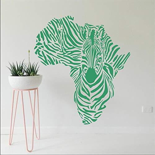 Afrika Karte Silhouette Kreative Spezielle Ze Wandbild Kühle Tier Wandaufkleber Vinyl Removable Home Dekorative Tapete 56 * 60 cm