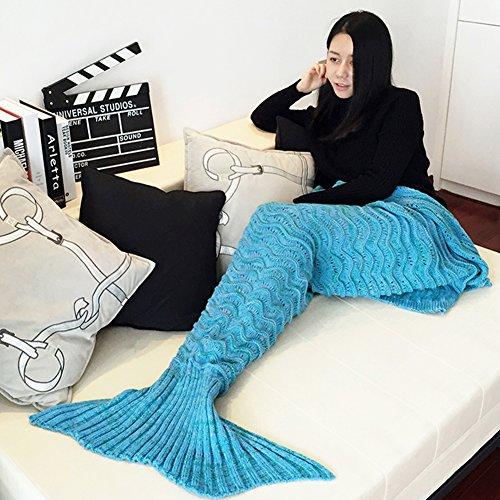 Wuiyepo-Meerjungfrau-Endstck-Decke-Alle-Jahreszeiten-gestrickte-handgemachte-Meerjungfrau-Decke-schlafende-Decke-Tasche-Schlafende-gemtliche-Meerjungfrau-fr-Arten-Erwachsene-Teens