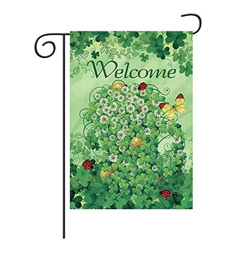 ock Zuhause Flagge Polyester doppelseitige kleine Garten Flagge Sommerhaus Hof Banner Villa Bauernhaus Outdoor Decor 12 × 18 Zoll ()