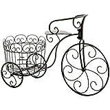 deko fahrradgestell mit pflanzeimer metall schwarz wei pflanzfahrrad deko blumen fahrrad neu. Black Bedroom Furniture Sets. Home Design Ideas