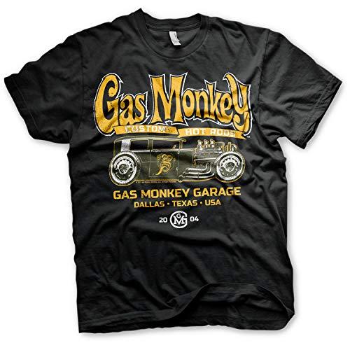 Hot Rod Garage (Gas Monkey Garage Officially Licensed - Custom Hot Rods T-Shirt GMG Schwarz Trikot T Shirt (Large))