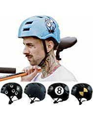 Skullcap® BMX Helm ☢ Skaterhelm ☢ Fahrradhelm ☢, Herren   Damen, schwarz matt & glänzend