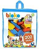 BLOKO – 503508 – Sac de 200 BLOKO et 2 figurines – Dès 12 mois – Fabriqué en EUROPE – Jouet de construction
