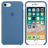 Funda para iPhone 7/8 Carcasa Silicona Suave Colores del Caramelo con Superfino Pelusa Forro,Anti-rasguños Teléfono Caso para Apple iPhone 7/8 (iPhone 7/8, Azul Vaquero)