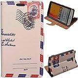 Voguecase® Funda Carcasa Cuero Tapa Case Cover Para LG L Bello(envoltura) + Gratis aguja de la pantalla stylus universales