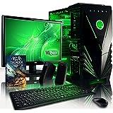 VIBOX Pulsar Paquet 16 Gaming PC - 4,2GHz AMDFX8-CoreCPU, GPUGTX1050 Ti, Avanzado, Ordenador de sobremesa para oficina Gaming vale de juego, con monitor, Iluminaciàninterna verde (3,3GHz (4,2GHz Turbo) SuperrápidoAMDFX8300 Ochoprocesador8-CoreCPU, Nvidia GeforceGTX1050 Ti 4 GB TarjetagráficaGPU, 16 GB Memoria RAM de DDR3 1600MHz, 2TB(2000GB)SataIII7200 rpmdiscoduroHDD, Raijintekairerefrigeradorde laCPU, 85+ PSU, Caja deViboxverde, Ningún sistema operativo)