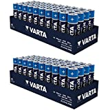 80 x Batterien VARTA 4906 Alkaline, Mignon, AA, LR06, 1.5V, High Energy, 2x 40er Pack