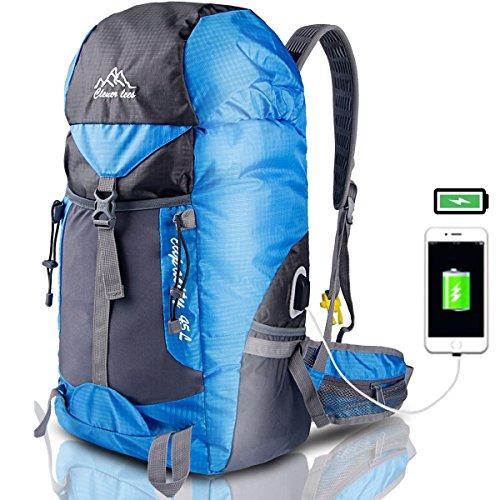 Eyeco Trekkingrucksäcke Wanderrucksäcke Reisenrucksack mit USB Ladeanschluss ,Wasserdicht Gepäcktasc Eyeco (Zahnbürste Erste-hilfe-kit)