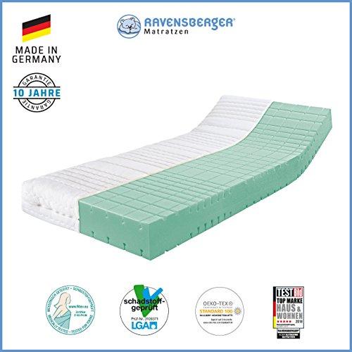 Ravensberger STRUKTURA-MED 60 7-Zonen HYLEX+HR Kaltschaummatratze H 2 RG 60 (45-80 kg) Medicore-SL 90x200 cm
