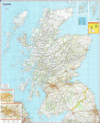 michelin-road-wall-map-of-scotland-48-x-39-a-encapsulated-in-gloss-plastic