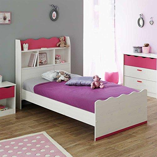 Bett mit Regal im Kopfteil für Kinder Pharao24