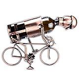 WOP ART Weinflaschenhalter Modell Radfahrer in edler Kupferoptik