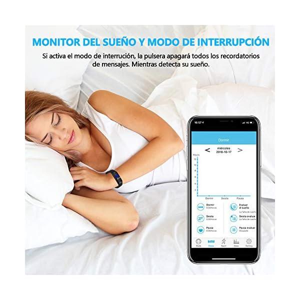 MINLUK Pulsera de Actividad Inteligente para Android iOS 6