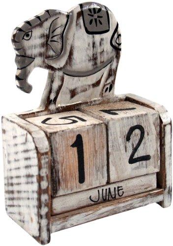 Guru Shop - Calendario de cubos, diseño de elefante