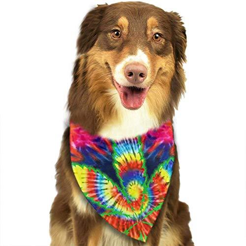 Wfispiy Hund Bandana Pet Schal Tie Dye Unkraut Classic Pet Bandana Pet Halsbänder für Hund Katze eine Größe (Schal Unkraut)