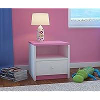 CARELLIA Nachttisch Kinder 1Schublade L: 40cm x P: 39cm x h: 30cm–pink preisvergleich bei kinderzimmerdekopreise.eu