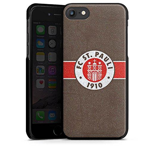 Apple iPhone 7 Silikon Hülle Case Schutzhülle FC St. Pauli Fanartikel Fußball Hard Case schwarz