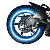 customTaylor33Reflektierendes Klebeband/Aufkleber für Motorradfelgen/Felgenrandaufkleber, hohe Intensität, für 17Zoll Räder, Sicherheit