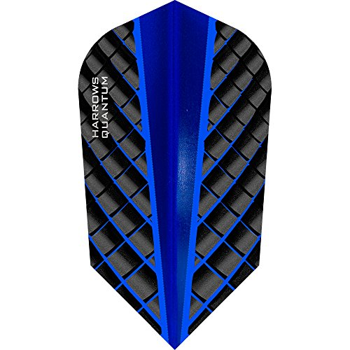 HARROWS Quantum Dart Flights, 100 Micron – Slim – 3D Effekt – Dunkelblau – 10 Sets (30)