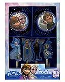 Horror-Shop 48 tlg. Disney Kindergeburtstags Muffin Set Frozen