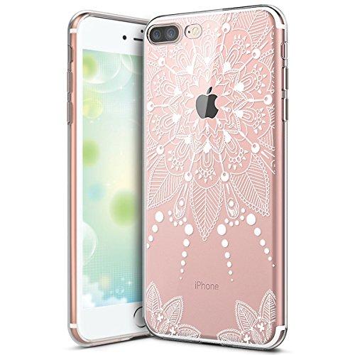 Hülle für iPhone 6 6S,iPhone 6 6S Silikon Schutzhülle,KunyFond [Liquid Crystal] Mandala Malerei Muster TPU Silikon Hülle Transparent Kristallklar Schutzhülle [Ultra Dünn] Klar Weiche Silikon Crystal K Mandala#10