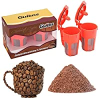 Gutens 2 Pack Reusable Carafe K-Cups Reusable coffee filter for Keurig 2.0 -K200, K300, K400, K500 Series