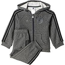 adidas DFB 3S Babyjogg - Chándal Selección de Alemania 2016/2017 unisex, color gris / negro / verde, talla 80