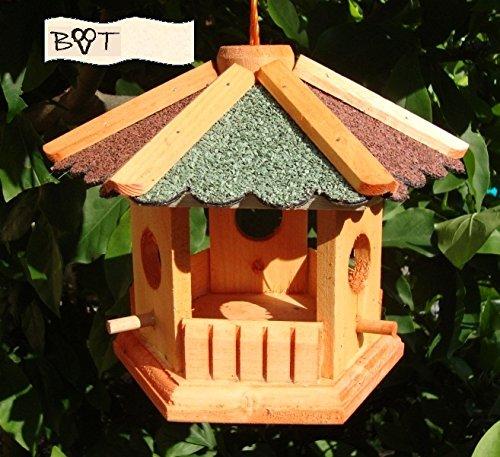 BTV Batovi Vogelhäuser XL Vogelhaus/garten vogelhäuser, Futterstation aus Holz Vogelhäuschen B35r-g ohne Ständer