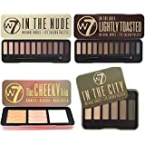 W7 In The Nude, In The Buff Lightly Toasted, In The City Eyeshadow Palettes & Cheeky Trio Bronzer Set by W7