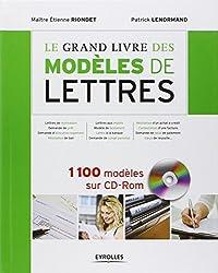 Le grand livre des modèles de lettres. 1100 modèles sur cd-rom.