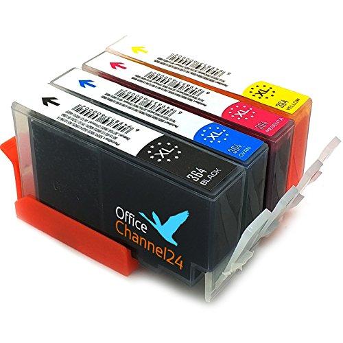 OfficeChannel24 Druckerpatronen kompatibel zu HP 364 HP 364 XL mit Chip für DESKJET 3070A 3520 3522 OFFICEJET 4620 4622 HP Photosmart 5510 5514 5515 5520 5522 5524 5525 6510 6520 7510 7520 e-All-in-One