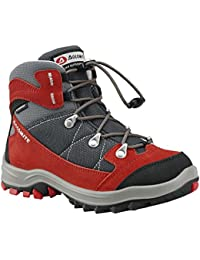 BOOTS DOLOMITE DAVOS KID WP FIERY RED ANTRACITE GREY PER TREKKING