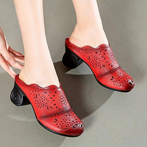 ZYUSHIZ Chaussons Femme Cool Texte gras avec chaussons Sandales Baotou 38EU