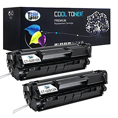 2 Pack Cool Toner Compatible Q2612A 12A Black Toner Cartridge replacement for HP LaserJet 1010 1012 1015 1018 1020 1022 3015 3020 3030 3050 3050Z 2.000 Pages