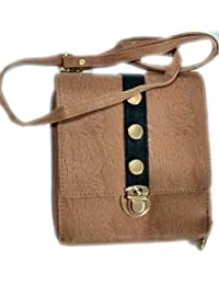 SGM Stylish Brown Sling Bag With Designable Top