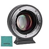 Andoer Viltrox NF-M43X 0.71X Objektiv Mount Adapter Ring automatik zwischenring für Nikon G D Objektiv zu verwenden für Micro Four Thirds M4 / 3 Kamera