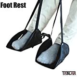 #2: Taslar® Foot Rest,New-Type Portable Adjustable Height Travel Footrest Flight Carry-on Foot Rest Travel Accessories and Office Foot Rests, Best Footrests Hammock for Office Bus Airplane (Black)