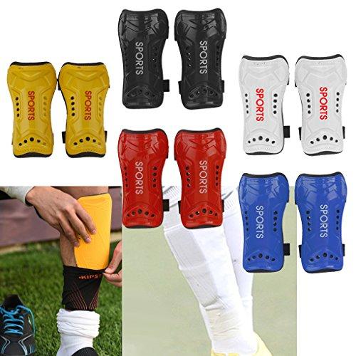 MagiDeal 2x Soft Light Soccer Shin Pad Guard Sports Leg Protector Kids Adult - Black