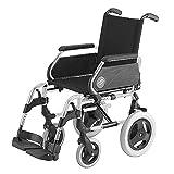 Silla de ruedas Breezy 250 en acero cromado con ruedas pequeñas de 12' asiento de 46...