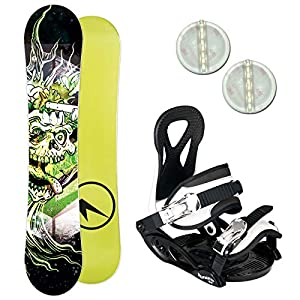Unbekannt Trans Pirate ~ Kinder Snowboard Set 2019~130 cm + ELFGEN JUNIOR BINDUNG + PAD