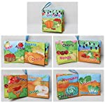 #7: Kids Vegetable & Fruit Theme Cloth Book with Bright Color Pictures Toddler Baby Learning Toys