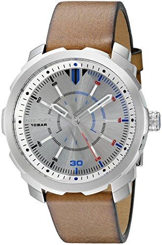 Diesel Herren Analog Quarz Uhr mit Leder Armband DZ1736